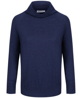 Women's Schoffel Cotton Cashmere Turtle Neck Sweater - Indigo