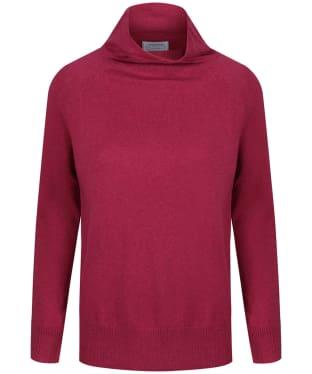 Women's Schoffel Cotton Cashmere Turtle Neck Sweater - Raspberry