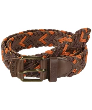 Schoffel Woven Leather Belt - Brown / Ochre
