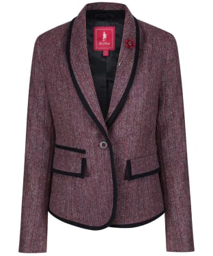 Women's Jack Murphy Margot Tweed Blazer - Plum Berry