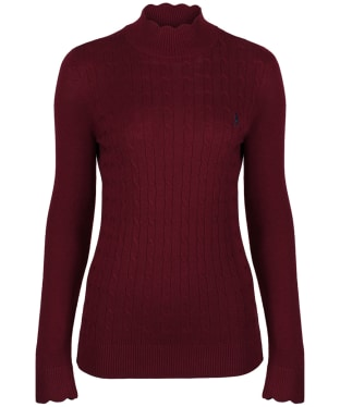 Women's Jack Murphy Gillian Turtle Neck Jumper - Winter Burgundy