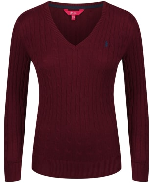 Women's Jack Murphy Katie V-Neck Sweater - Winter Burgundy