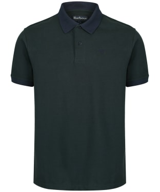 Men's Barbour Sports Polo Mix Shirt - Dark Seaweed