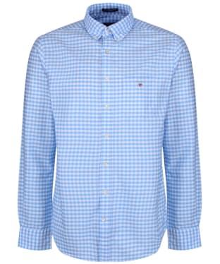 Men's GANT Oxford Gingham Shirt - Capri Blue