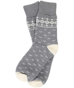 Women's Barbour Dover Socks - Grey / Cream