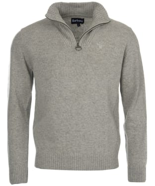 Men's Barbour Essential Wool Half Zip Sweater - Light Grey Marl