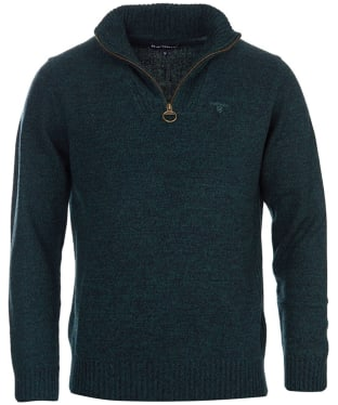 Men's Barbour Essential Wool Half Zip Sweater - Seaweed Mix