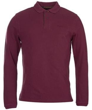 Men's Barbour Long Sleeved Sports Polo Shirt - Merlot