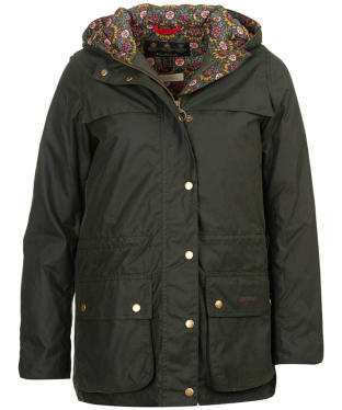Women's Barbour Liberty Blaise Waxed Jacket - Sage