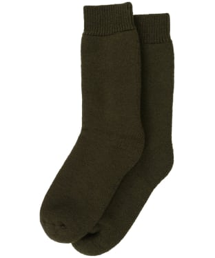 Men's Barbour Wellington Calf Socks - Olive