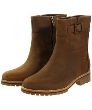Women's Timberland Main Hill Waterproof Biker Boots - Cathay Spice