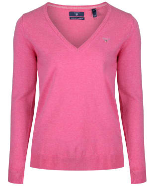 Women's GANT Super Fine Lambswool Sweater - Pink Melange