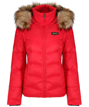 Women's Musto Burghley Quilted 2 in 1 Jacket - Lava Red