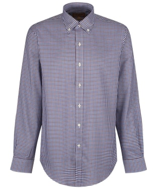 Men's Schoffel Burnsall Shirt - Navy / Fig Micro