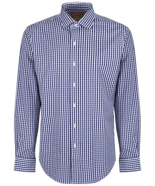 Men's Schoffel Harlington Shirt - Navy Gingham