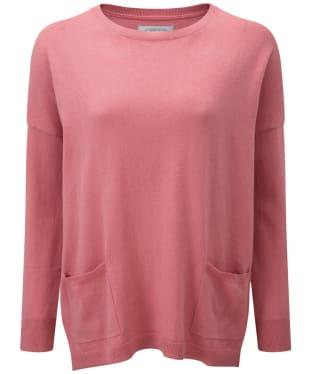 Women's Schoffel Cotton/Cashmere Crew Neck Sweater - Rose