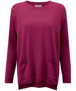 Women's Schoffel Cotton/Cashmere Crew Neck Sweater - Raspberry