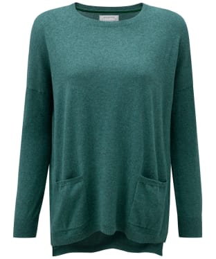 Women's Schoffel Cotton/Cashmere Crew Neck Sweater - Kingfisher