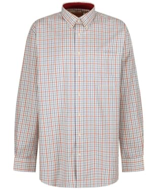 Men's Schoffel Banbury Shirt - Red / Denim Check