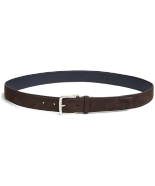 Men's GANT Classic Suede Belt - Rich Brown