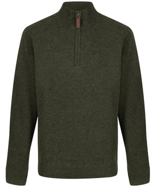 Men's Schoffel Lambswool Windstop 1/4 Zip Sweater - Loden