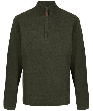 Men's Schoffel Lambswool Windstop 1/4 Zip Sweater