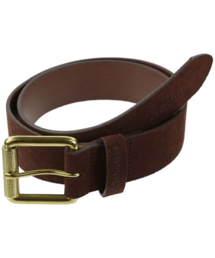 Men's Schoffel Suede Belt - Dark Brown