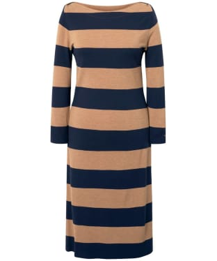 Women's GANT Striped Boatneck Dress - Beach Sand Mel