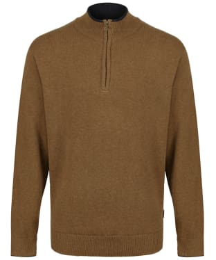 Men's Musto Shooting Zip Neck - Toffee