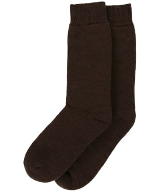 Men's Barbour Wellington Calf Socks - Dark Brown