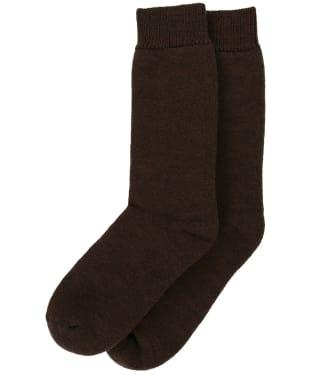 Men's Barbour Wellington Calf Socks - Dark Brown