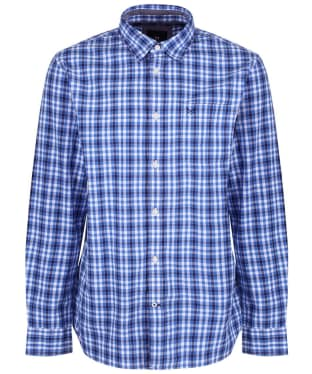 Men's Crew Clothing Westleigh Classic Check Shirt - Lapis Blue