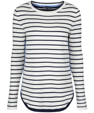 Women's Crew Clothing Stripe Mix Jumper - Navy / White