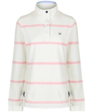 Women's Crew Clothing Padstow Pique Sweatshirt - White / Pink