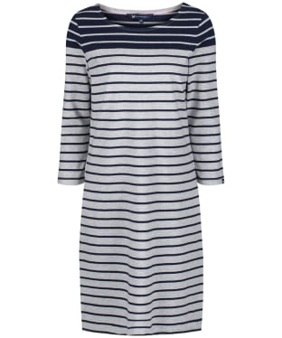 Women's Crew Clothing Breton Dress - Grey / Navy