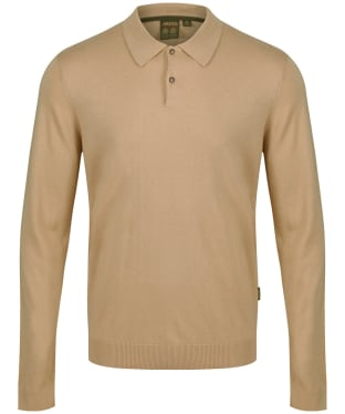 Men's Musto Polo Collar Knit Sweater - Tan