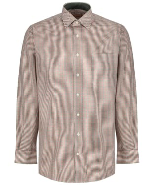 Men's Schoffel Burnham Tattersall Shirt - Olive