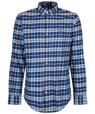 Men's GANT Regular Winter Twill Plaid Shirt - College Blue