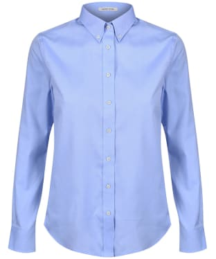 Women's GANT Diamond G Pinpoint Oxford Shirt - Capri Blue