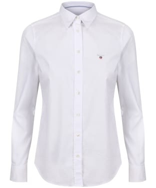 Women's GANT Stretch Oxford Shirt - White