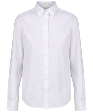 Women's GANT Diamond G Pinpoint Oxford Shirt - White
