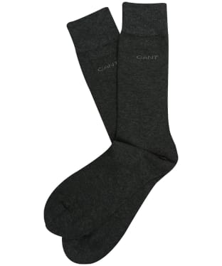 Men's GANT Cotton Socks - Charcoal Melange