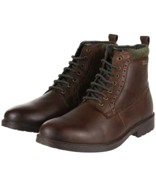 Men's Barbour Hury Derby Boots - Dark Brown