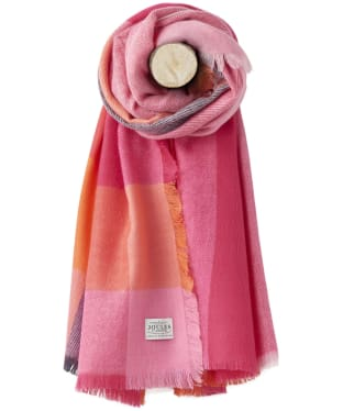 Women's Joules Berkley Scarf - Bright Check