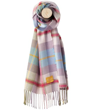 Women's Joules Bracken Scarf - Pastel Check Tweed