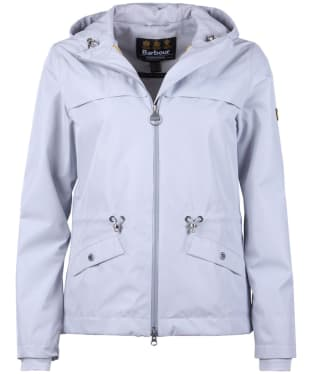 Women's Barbour International Misano Waterproof Breathable Jacket - Ice White
