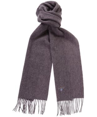 Barbour Plain Lambswool Scarf - Blackcurrant Mix