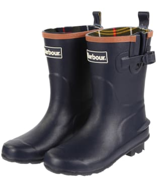 Barbour Kids Simonside Wellington Boots - Navy