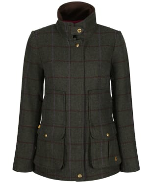 Women's Joules Tweed Fieldcoat - Green Tweed