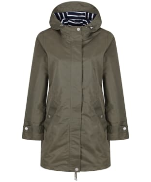 Women's Joules Raine Waterproof Parka Jacket - Grape Leaf